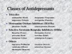 classes of antidepressants