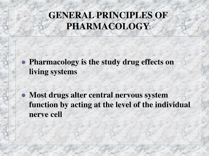 general principles of pharmacology n.