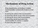 mechanisms of drug action