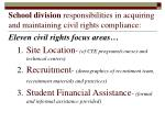 school division responsibilities in acquiring and maintaining civil rights compliance