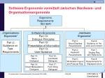 software ergonomie vermittelt zwischen hardware und organisationsergonomie