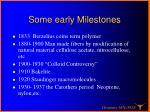 some early milestones