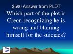 500 answer from plot