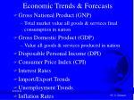 economic trends forecasts