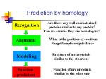 prediction by homology