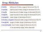 array attributes
