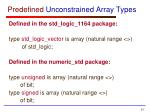 predefined unconstrained array types1