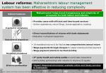 labour reforms maharashtra s labour management system has been effective in reducing complexity