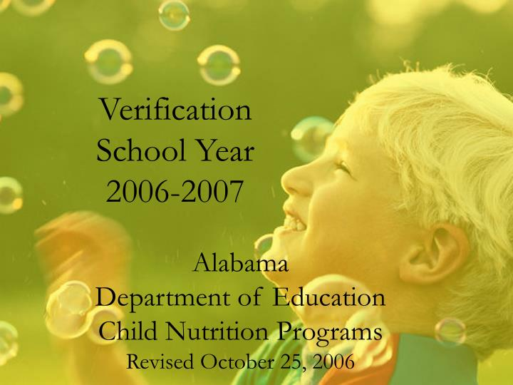 verification school year 2006 2007 n.