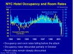 nyc hotel occupancy and room rates