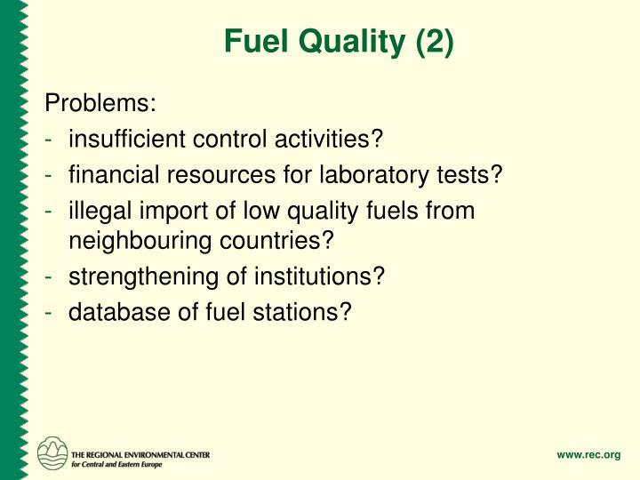 Fuel Quality (2)