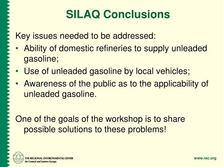 SILAQ Conclusions