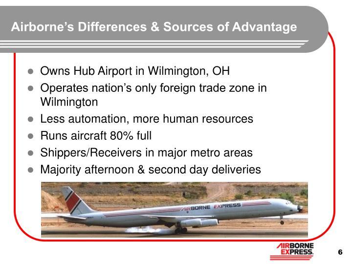 Airborne's Differences & Sources of Advantage