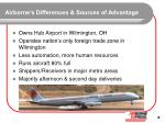 airborne s differences sources of advantage