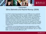 comment elina steinerte and rachel murray 2009