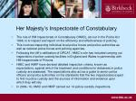 her majesty s inspectorate of constabulary