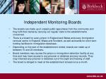 independent monitoring boards