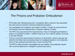the prisons and probation ombudsman