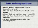 some leadership questions