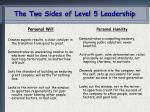 the two sides of level 5 leadership
