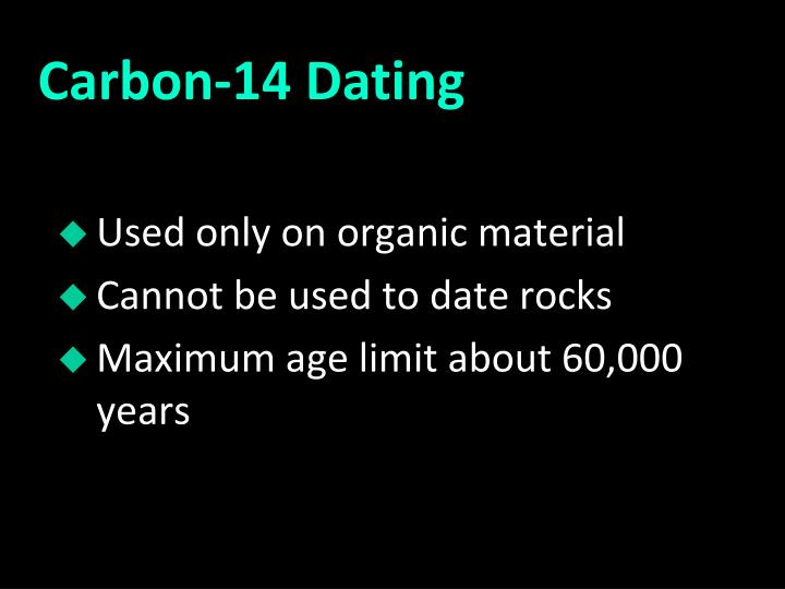Limit of carbon dating