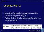 gravity part 2