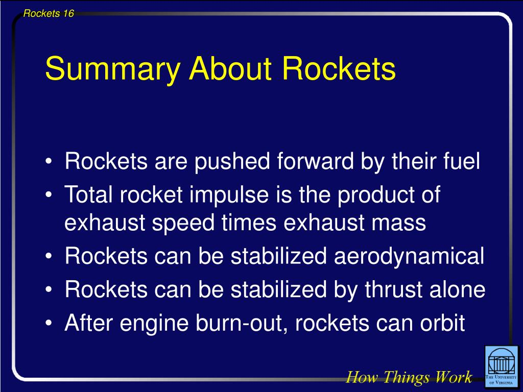 Summary About Rockets