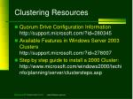 clustering resources