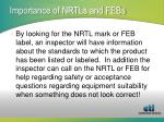 importance of nrtls and febs