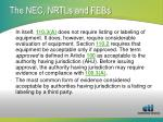 the nec nrtls and febs3