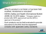 what is field labeling