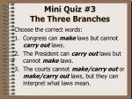 mini quiz 3 the three branches2
