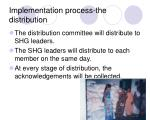 implementation process the distribution