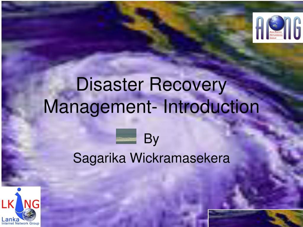 disaster recovery management introduction l.