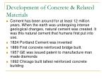 development of concrete related materials