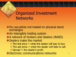 organized investment networks