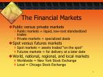 the financial markets1