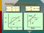 average and instantaneous a
