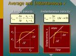 average and instantaneous v