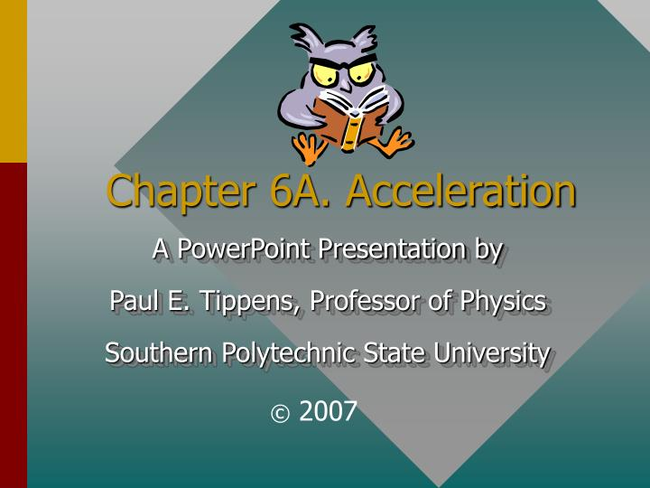 chapter 6a acceleration n.