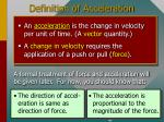 definition of acceleration