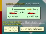 example 3 continued what is average acceleration of car