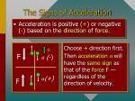 the signs of acceleration