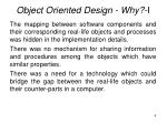 object oriented design why i