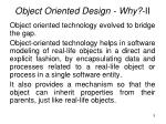 object oriented design why ii