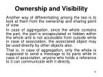 ownership and visibility