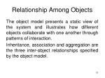 relationship among objects