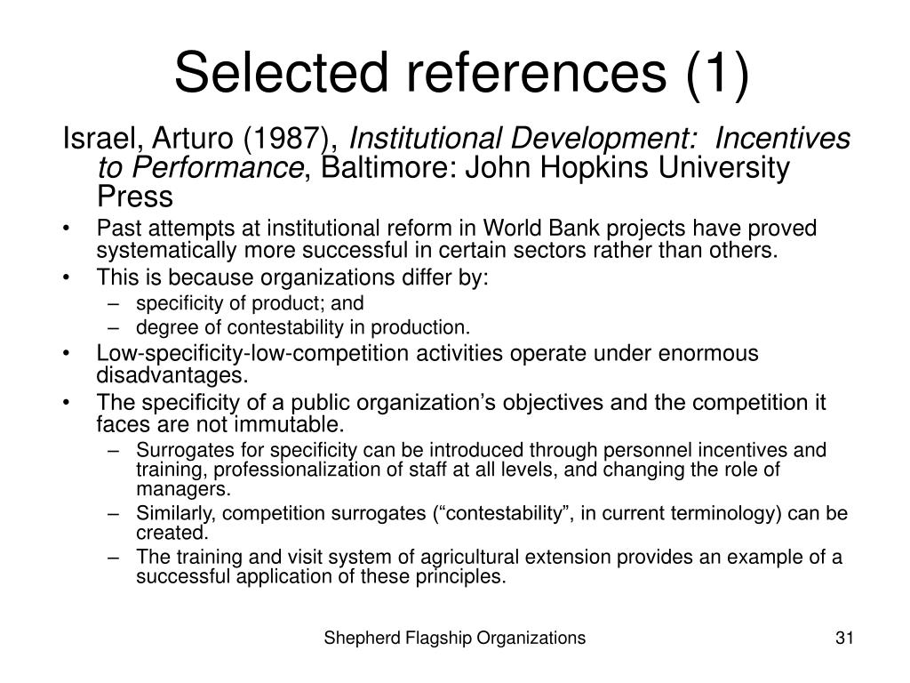 Selected references (1)