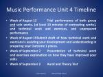 music performance unit 4 timeline