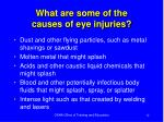 what are some of the causes of eye injuries